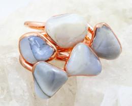 Five Peru Opal Potch Copper Electroformed Rings NA 280