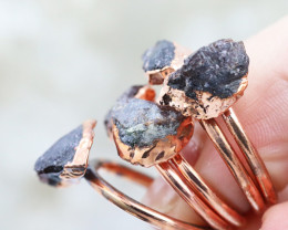 Five Abundance Garnet Copper Electroformed Rings NA 287