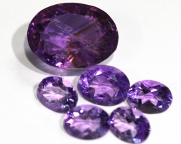 17.4Cts parcel 5 pc FACETED AMETHYST GEMSTONES  NA 346