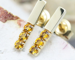 14k Yellow Gold Citrine Earrings - E12205 - G67