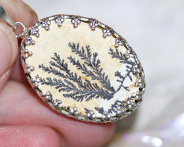 Natural Million years  fern fossil Pendant NA 319