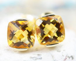 14 K Yellow Gold Citrine Earrings E2420 - G7