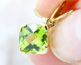 18 K Yellow Gold Peridot Pendant P4716 - G36