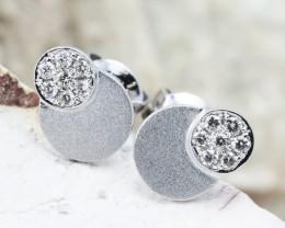 18K White Gold Diamond Earrings - H79 - E11263