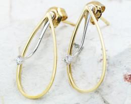 18K White Gold Diamond Earrings - H94 - E11604