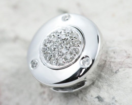 18K White Gold Diamond Pendant - H104 - P11546