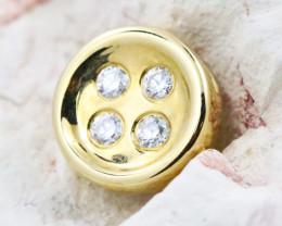 18K Yellow Gold Diamond Pendant - H108 - P11597