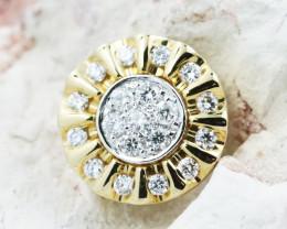18K Yellow Gold Diamond Pendant - H110 - P11592