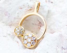 18K Rose Gold Diamond Pendant - H120 - P11680