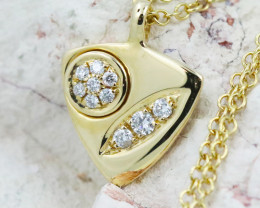 18K Yellow Gold Diamond Necklace - H138 - N11879