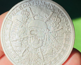 Pirate Pieces Of Eight Silver Bullion round  .999 Pure Silver