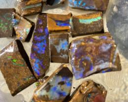 380 Cts Queensland Boulder opal 20 pcs  rough Parcel  CH 374