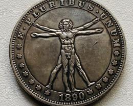 Hobo Coin Morgan man  Art Form Design   CP514