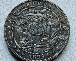 Hobo Coin Lady Art Form Design   CP 515