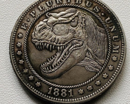 Hobo Coin Dinosaur Art Form Design   CP 524