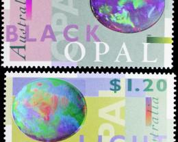 1995 two australian opal stamps