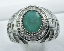 Natural Rhodolite Garnet 925 Sterling Silver Ring size P  NA 354