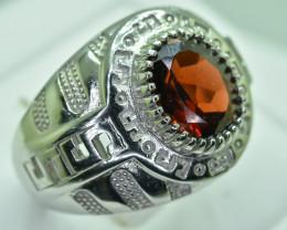 Natural Rhodolite Garnet 925 Sterling Silver Ring size R code NA 358
