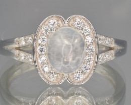 Flash Moonstone silver ring size Pode NA 426