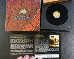 Discover Australia 2010 Saltwater Crocodile 1/25oz,Gold Coin