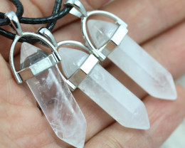 Re Sellers Three double pointed Polished Crystal Pendants NA 447
