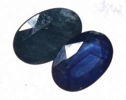 1.08 cts Pair faceted  natural Deep blue sapphires  NA  462