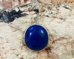 Beautiful cabochon Lapis lazuli,Tibetan silver Pendant NA 470