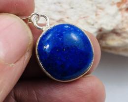 Beautiful cabochon Lapis lazuli,Tibetan silver Pendant NA 471