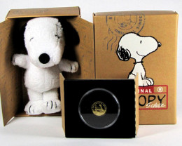 2010 Peanuts Woodstock Proof 1/25 Gold coin   CO 1173