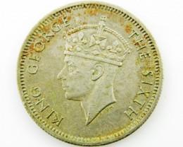 Malaya 10 cents .500  silver coin  CO 2054