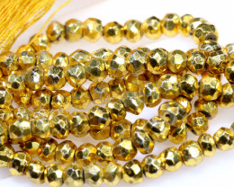 105.20 CTS PYRITE FACETED BEADS RJA-1196