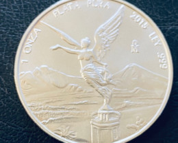 2015 pure 99.9 % silver on ounce Mexican libertad