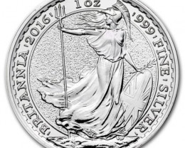 2016 Pure Silver .999 silver Britannia Royal mint