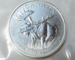 SEALED 2012 Canadian Silver Moose 1oz 999.9 FiNE CO1768