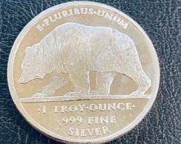 Liberty E PLURIBUS.UNUM .999  pure silver round