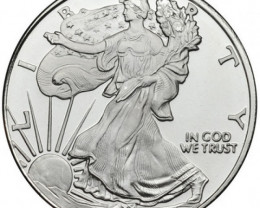1/2 ounce .999 silver walking liberty Great American Mint