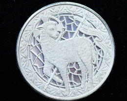 Lamb of God 2016 99.9% pure silver round