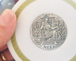 GODDESSES OF OLYMPUS - HERA 2015 2OZ  PURE.99.9 SILVER HIGH RELIEF COIN