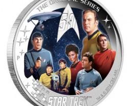 The Crew Star Trek U.S.S. Enterprise NCC-1701  Pure silver 99.9% 2 ounce co