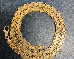 51.8 Grams  9K Quality Italian Byzantine Gold Chain    code L231