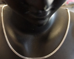 5.8 Grams  18K Quality Italian Curb WhiteGold Chain    code L414