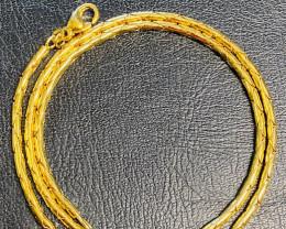 27.5 Grams 18k  Quality Italian Byzantine Gold Chain    code L258