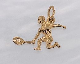 1.294 Grams 9 K Gold Pendant,Tennis Star code T 30