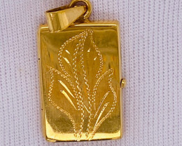 5.998 Grams 18 K Gold Locket Pendant,   code GP1