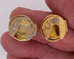 7.440 Grams 18 K Gold button covers ,   code L 287