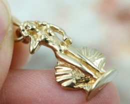 2.29 Grams 9K Mermaid Gold Pendant [T31]
