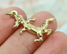 1.885 Grams 9K Alligator Gold Pendant [T35]