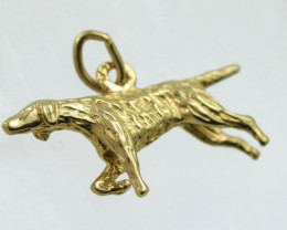 2.814 Grams 9 K Dog Gold Pendant [T36]