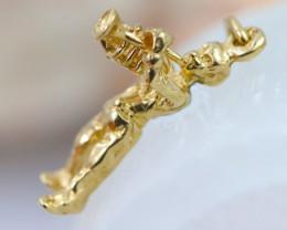 2.516 Grams 9K Trumpet Man Gold Pendant [T43]