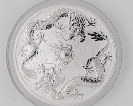 Double Dragon 2019 Silver One Ounce Pure Silver 99.9%